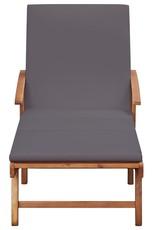 vidaXL 10-delige Tuinset met kussens massief acaciahout grijs