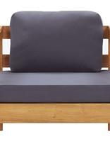 vidaXL 4-delige Loungeset met kussens massief acaciahout grijs