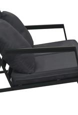 vidaXL 5-delige Loungeset met kussens aluminium donkergrijs