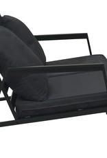 vidaXL 4-delige Loungeset met kussens aluminium donkergrijs