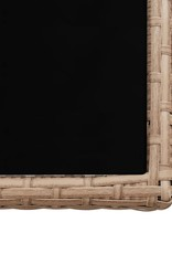 17-delige Tuinset met kussens poly rattan beige