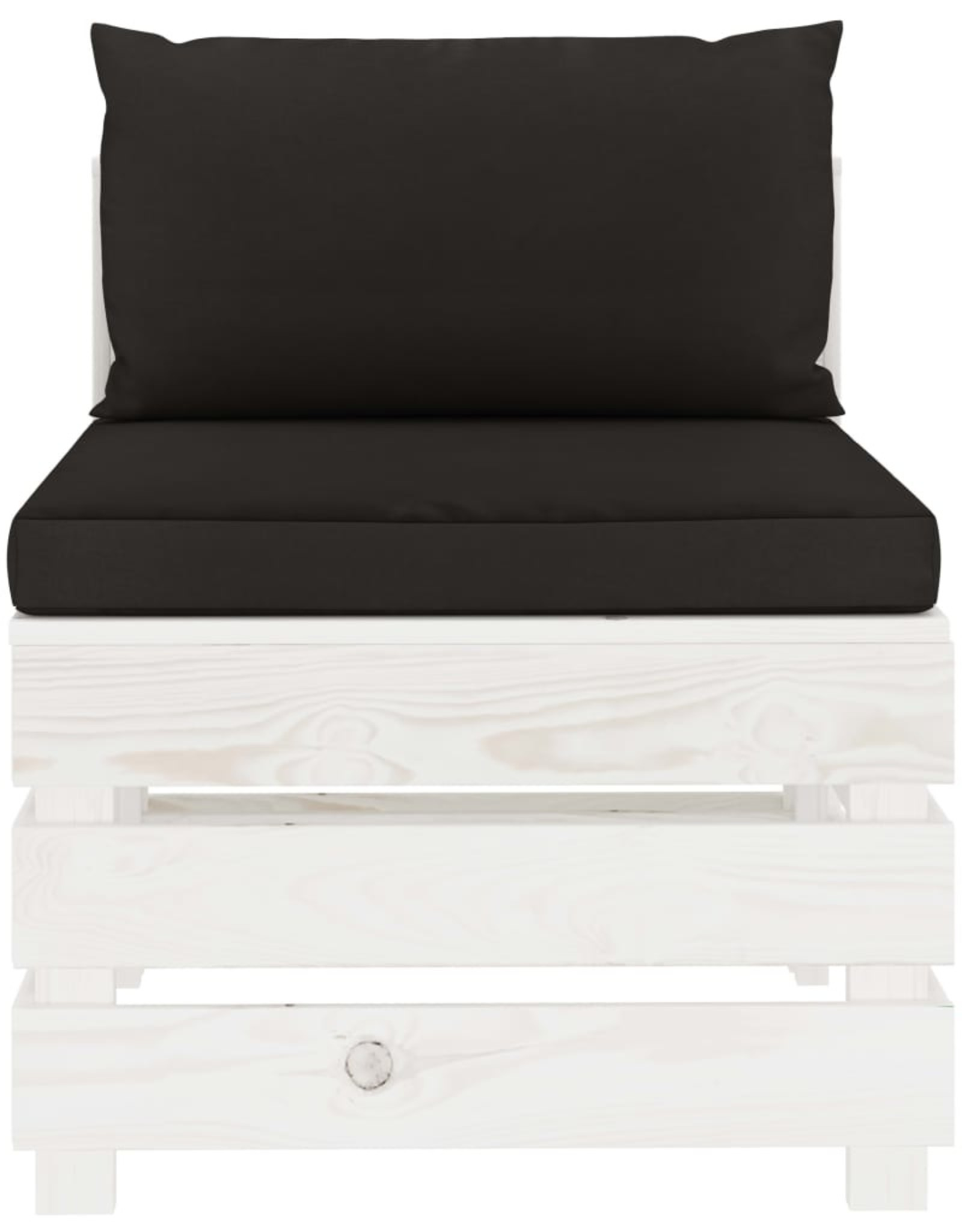 5-delige Loungeset met zwarte kussens pallet hout