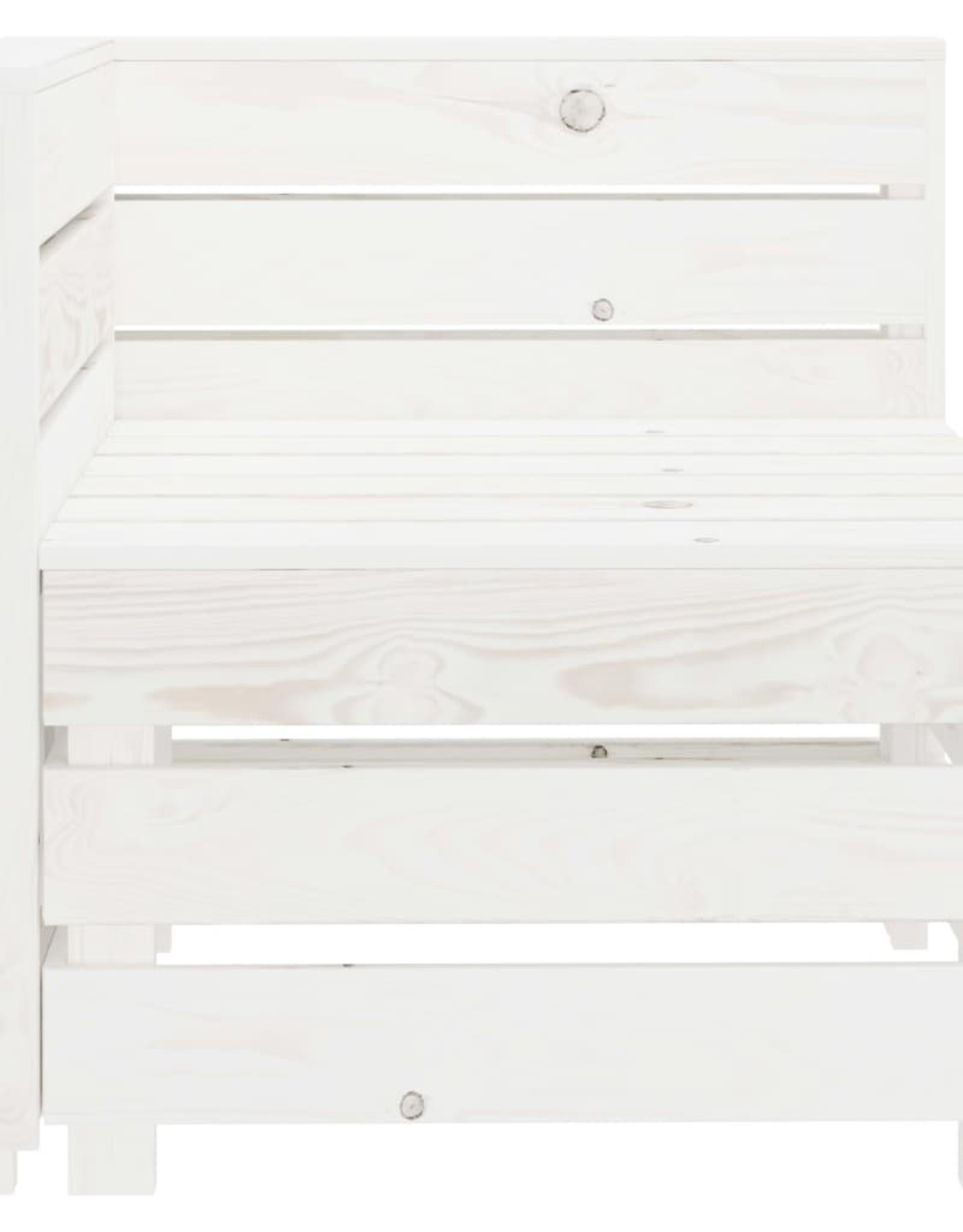 4-delige Loungeset pallet hout wit