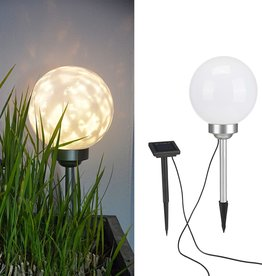 Tuinlicht LED bal roterend 20 cm