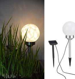 Tuinlicht LED bal roterend 15 cm
