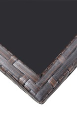 5-delige Tuinset met kussens poly rattan bruin