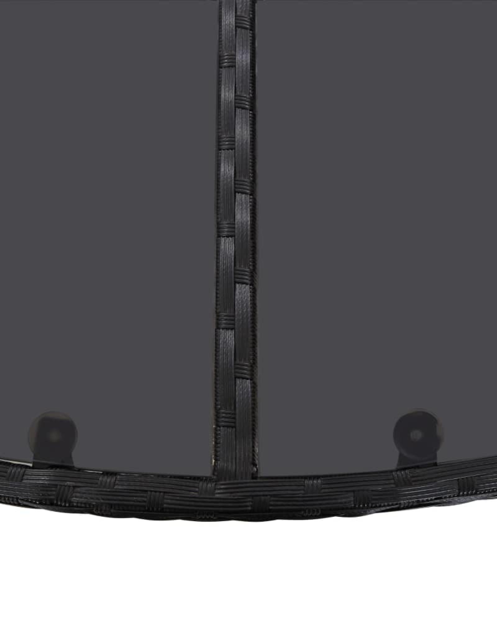 11-delige Tuinset met kussens poly rattan zwart