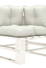 6-delige Loungeset met beige kussens pallet hout