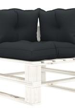 4-delige Loungeset met antracietkleurige kussens pallet hout