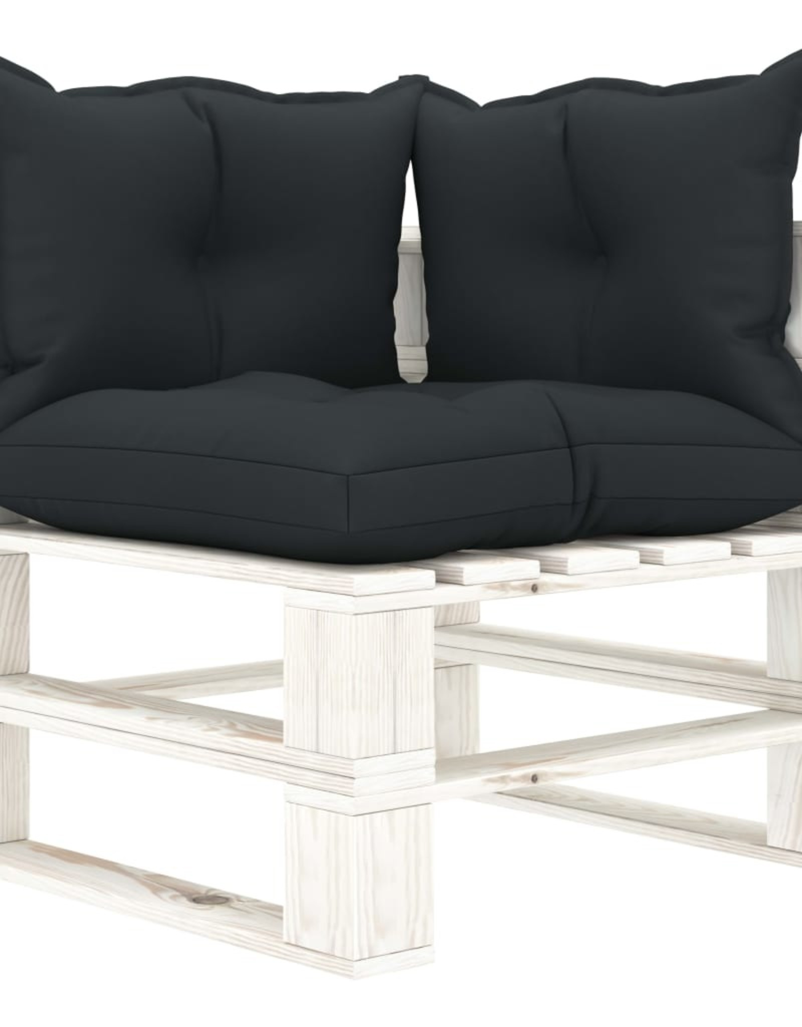 5-delige Loungeset met antracietkleurige kussens pallet hout