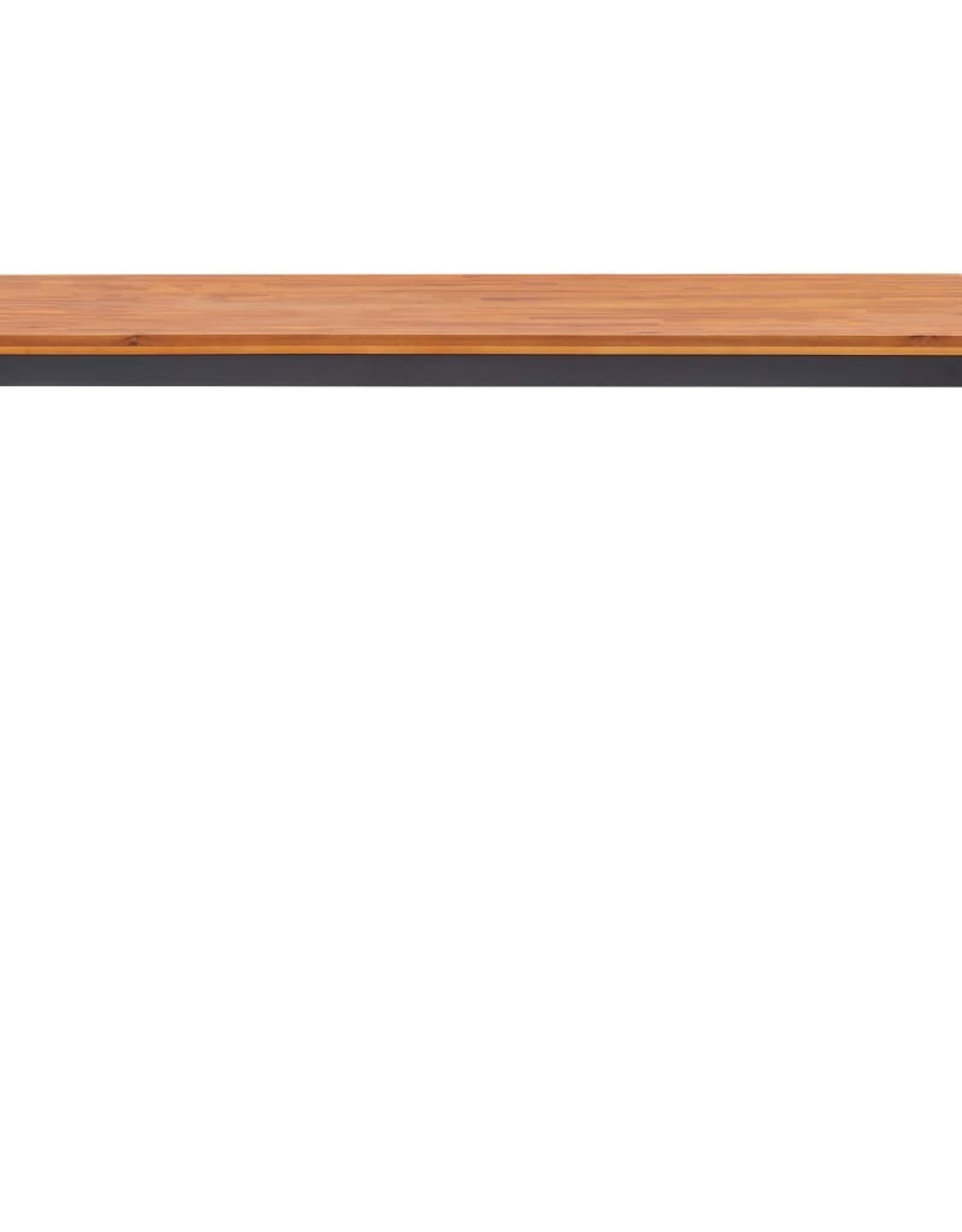 5-delige Tuinset massief acaciahout en PVC-rattan