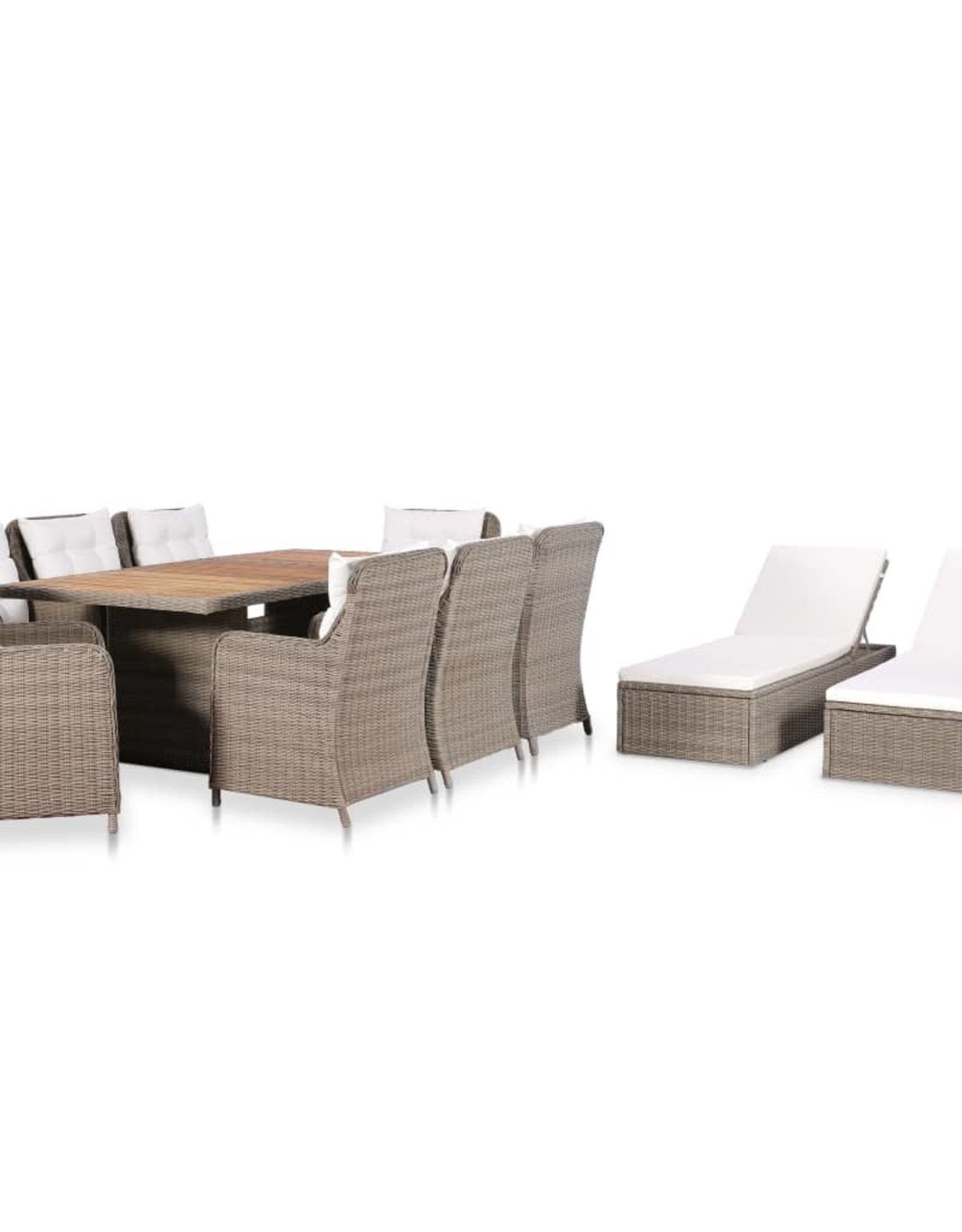 11-delige Tuinset poly rattan