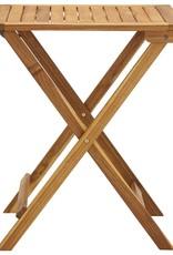 3-delige Bistroset inklapbaar met kussens massief acaciahout