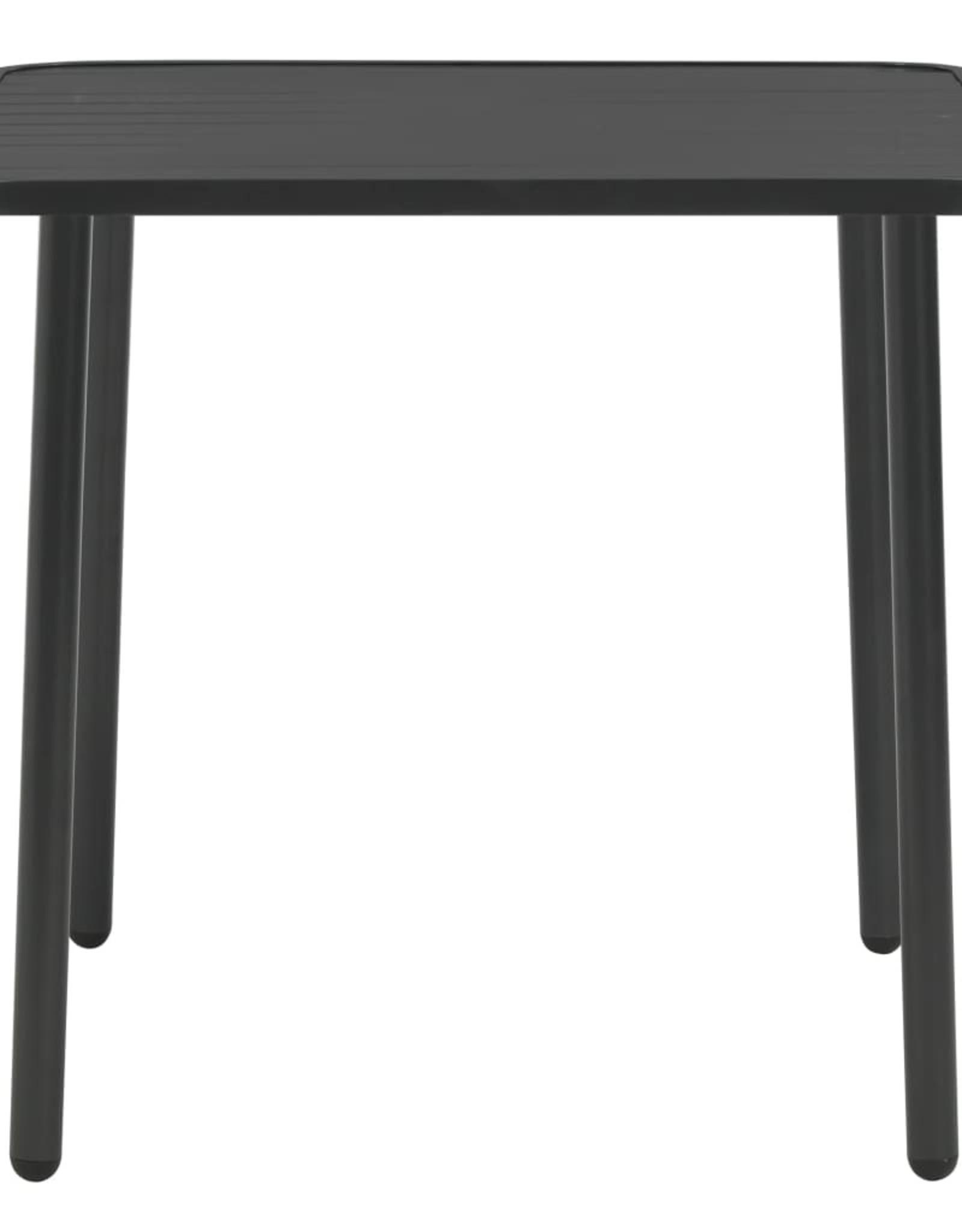 3-delige Bistroset staal donkergrijs