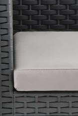 2-delige Loungeset met kussen PP antraciet