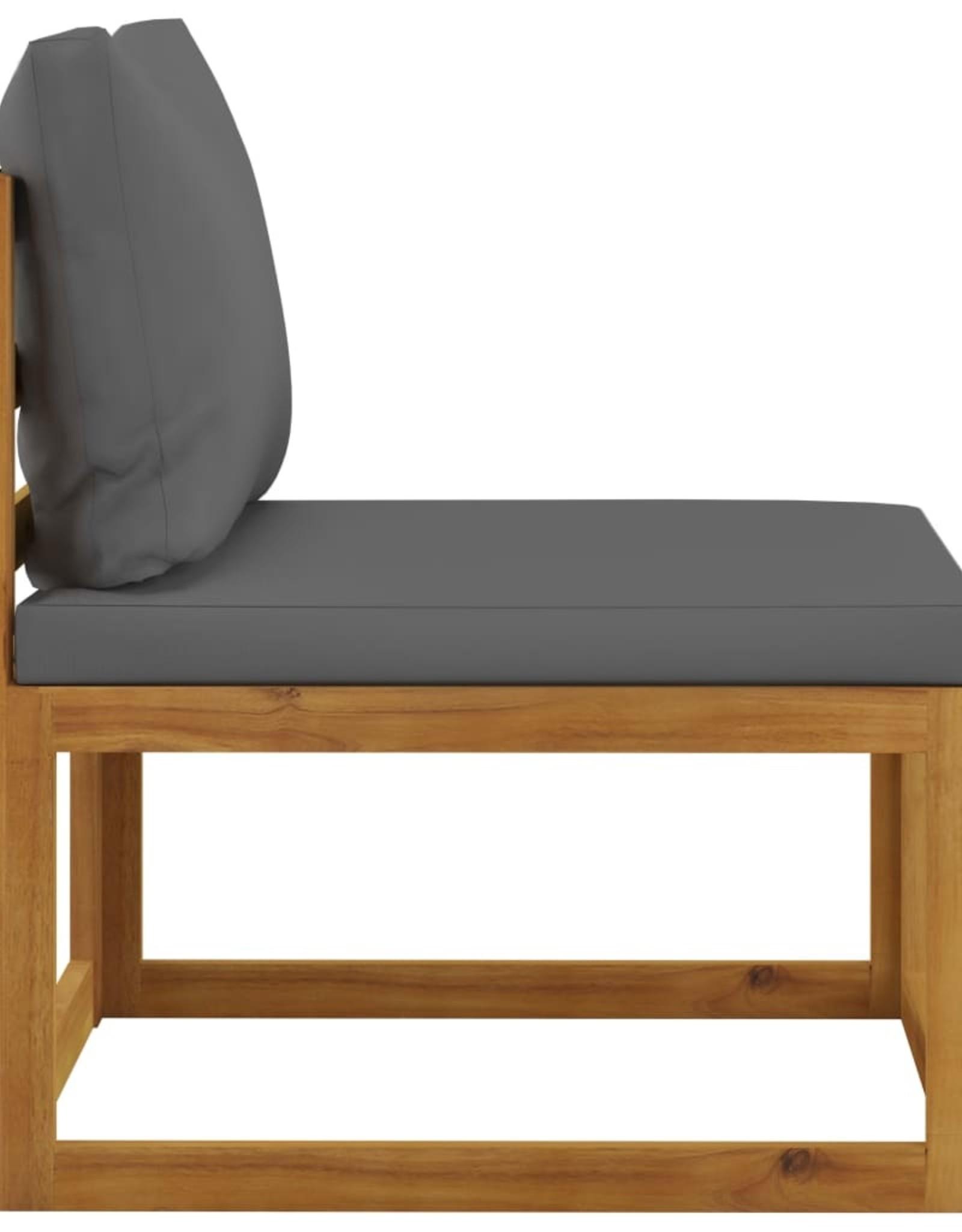 3-delige Loungeset met kussens massief acaciahout