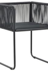 5-delige Tuinset PVC-rattan zwart