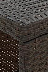 5-delige Tuinbarset met kussens poly rattan bruin