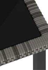 5-delige Tuinset poly rattan grijs