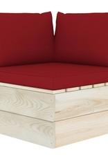 6-delige Loungeset met kussens pallet vurenhout