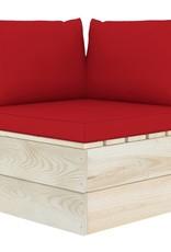 5-delige Loungeset met kussens pallet vurenhout