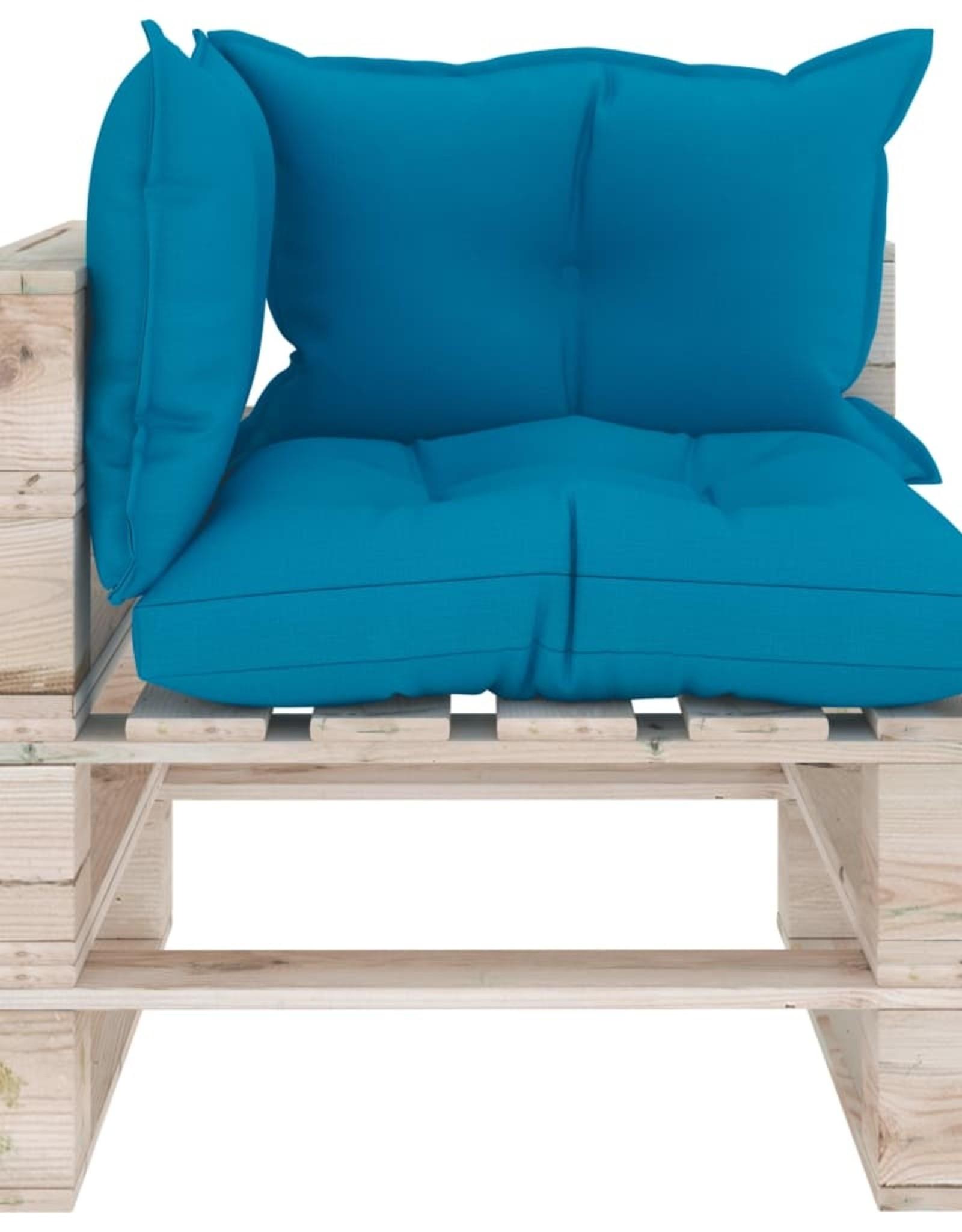 7-delige Loungeset met kussens pallet grenenhout