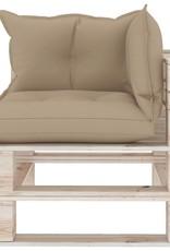 6-delige Loungeset met kussens pallet grenenhout