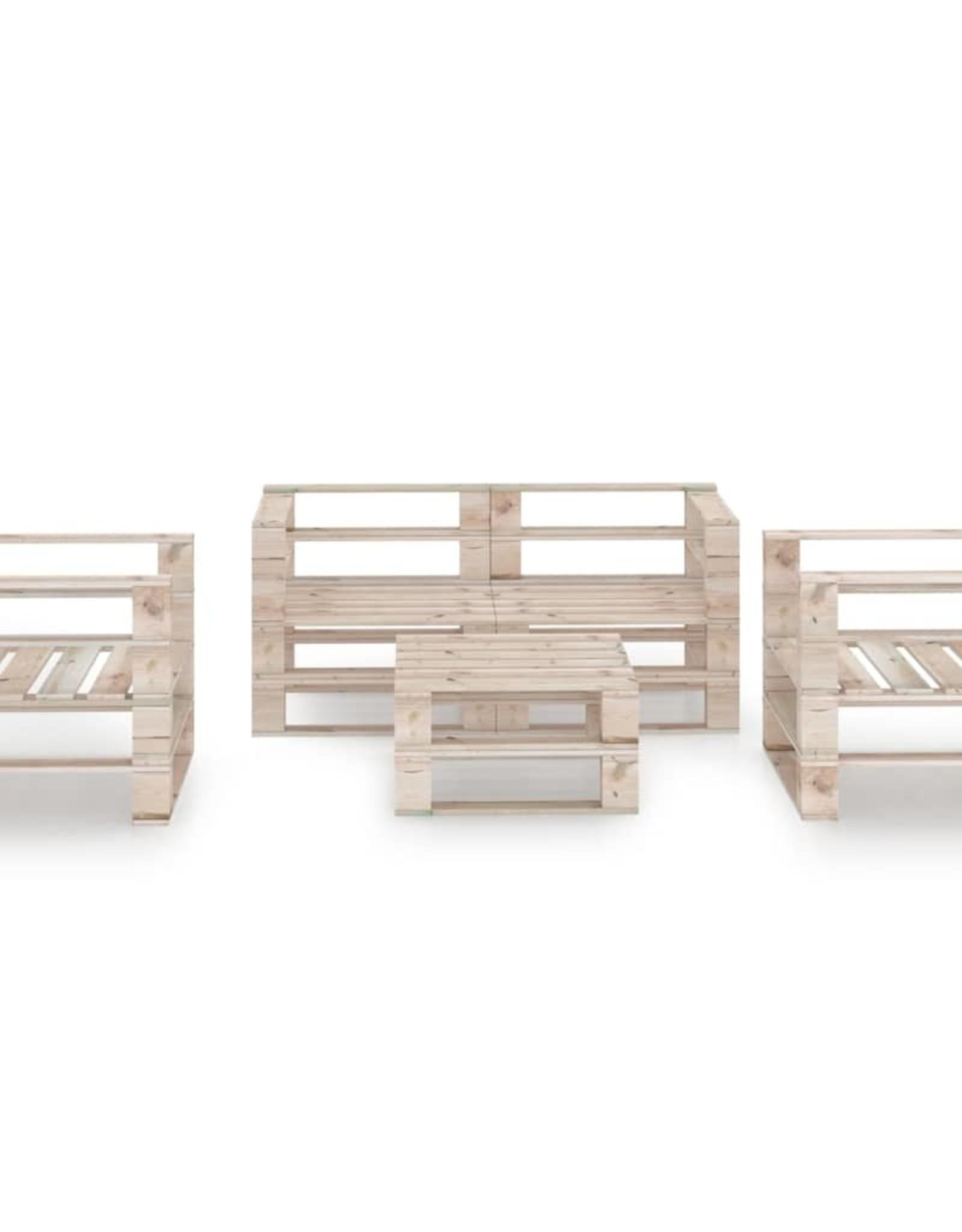 5-delige Loungeset pallet grenenhout