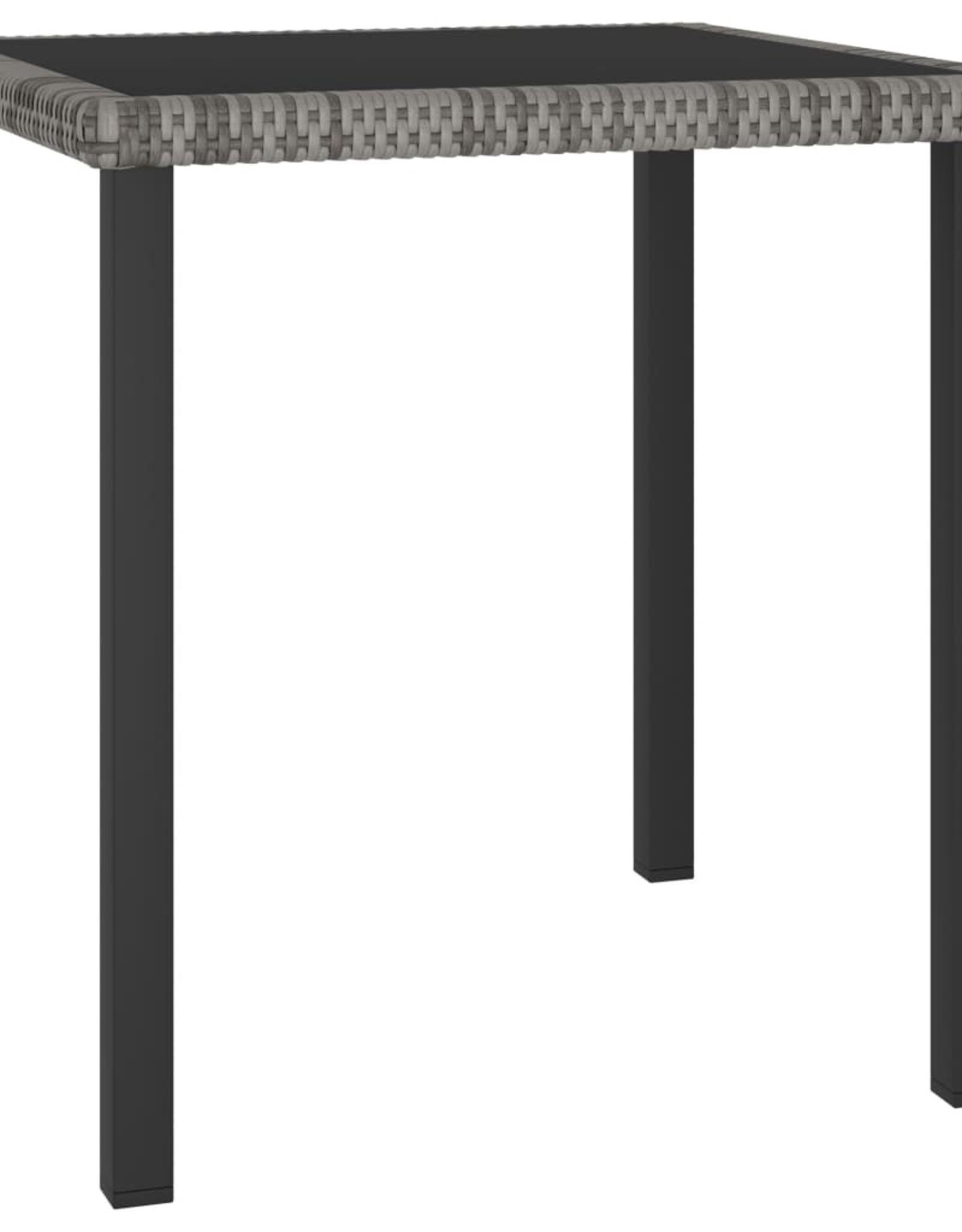 3-delige Tuinset poly rattan grijs