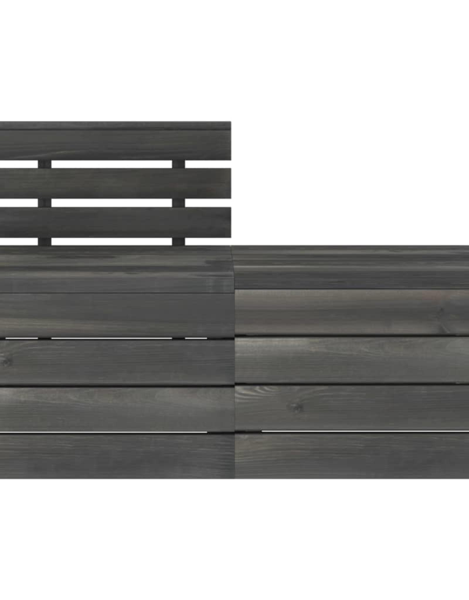 2-delige Loungeset pallet massief grenenhout donkergrijs