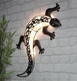 Huismerk Premium Wanddecoratie Solar Gekko - LED