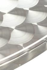 5-delige Tuinset aluminium zilverkleurig