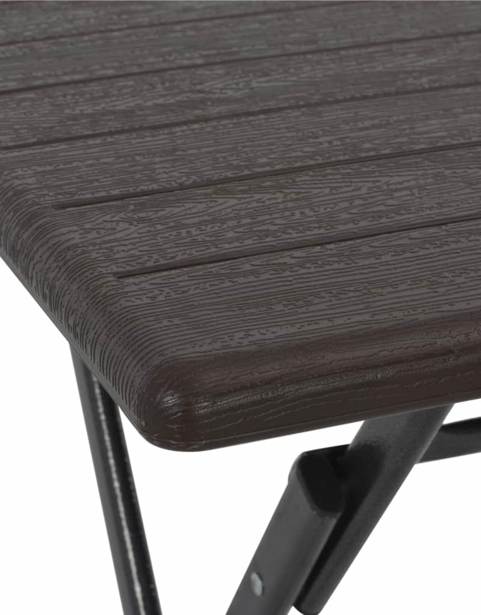 3-delige Bistroset inklapbaar rattan-look HDPE bruin