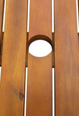7-delige Tuinset met kussens massief acaciahout