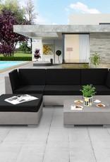 5-delige Loungeset met kussens beton grijs
