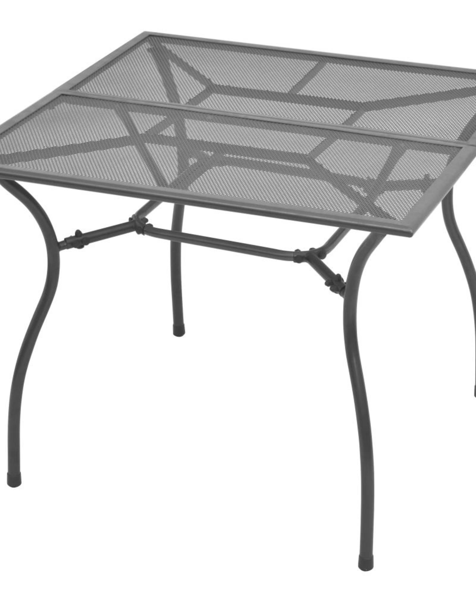 5-delige Tuinset met klapstoelen staal antraciet