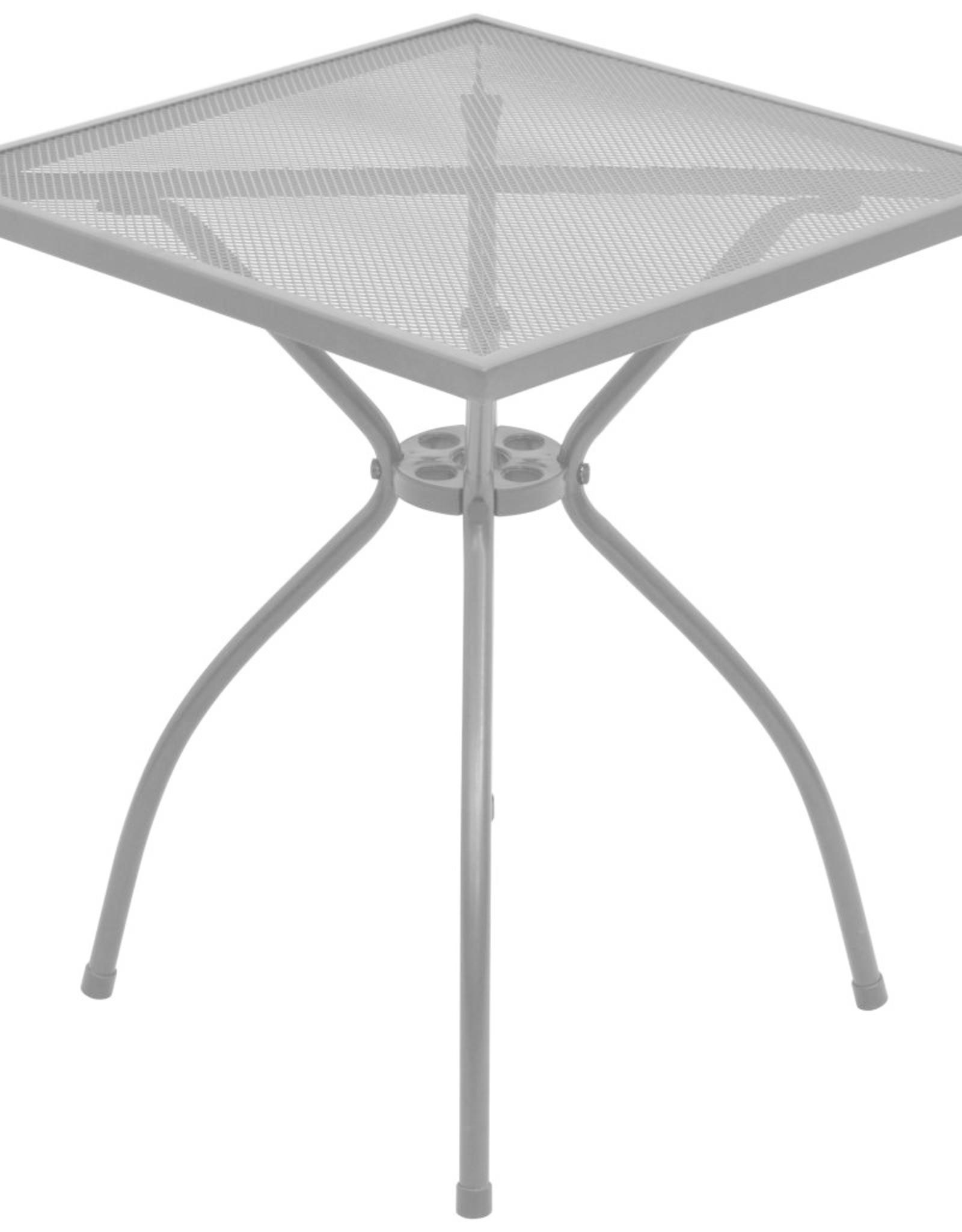 3-delige Bistroset met kussens staal antraciet