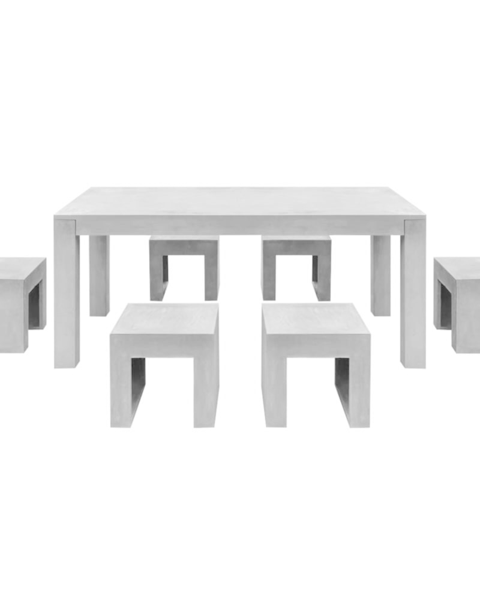 7-delig Tuinset beton