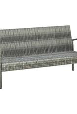 5-delige Loungeset met kussens poly rattan grijs