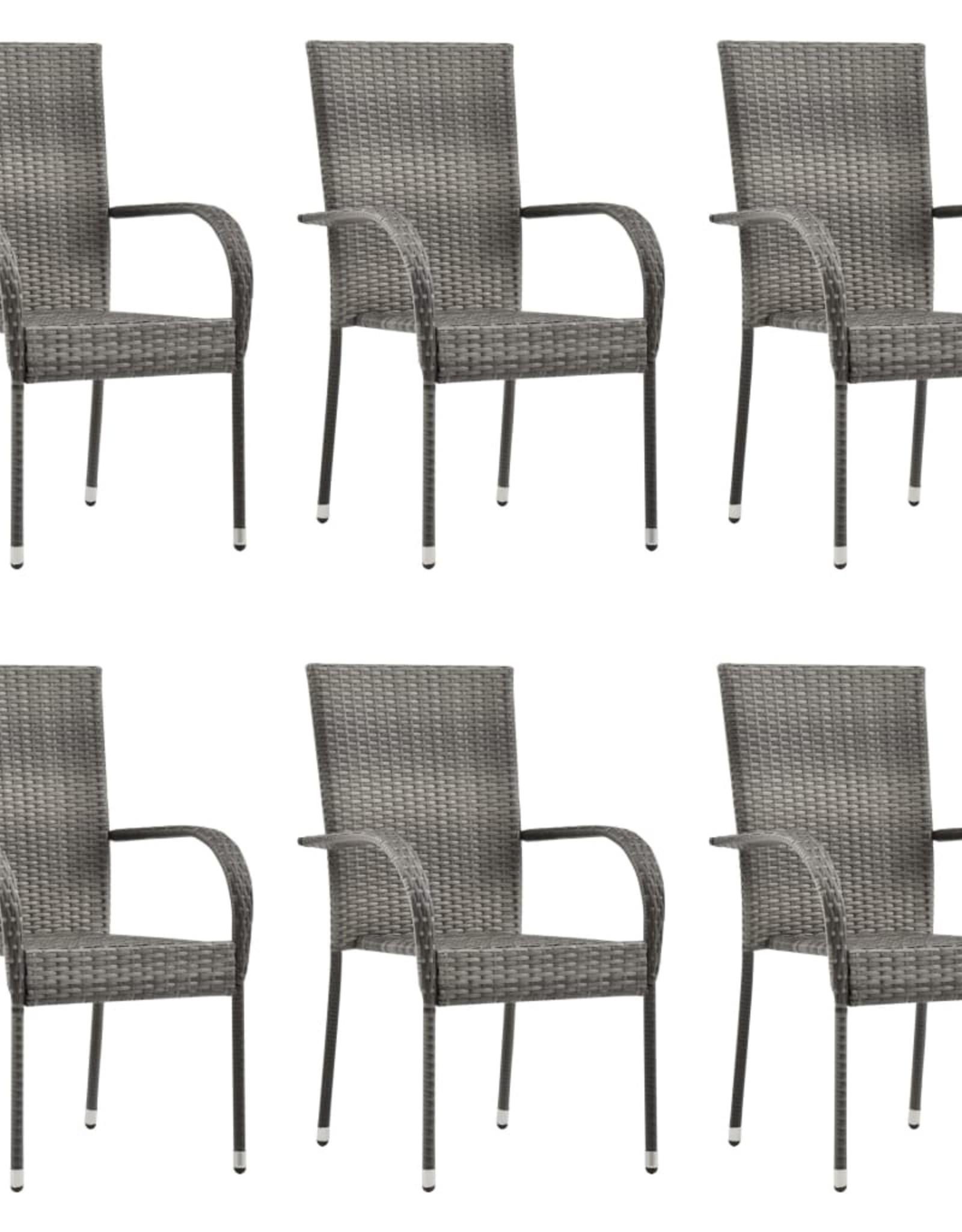 7-delige Tuinset grijs