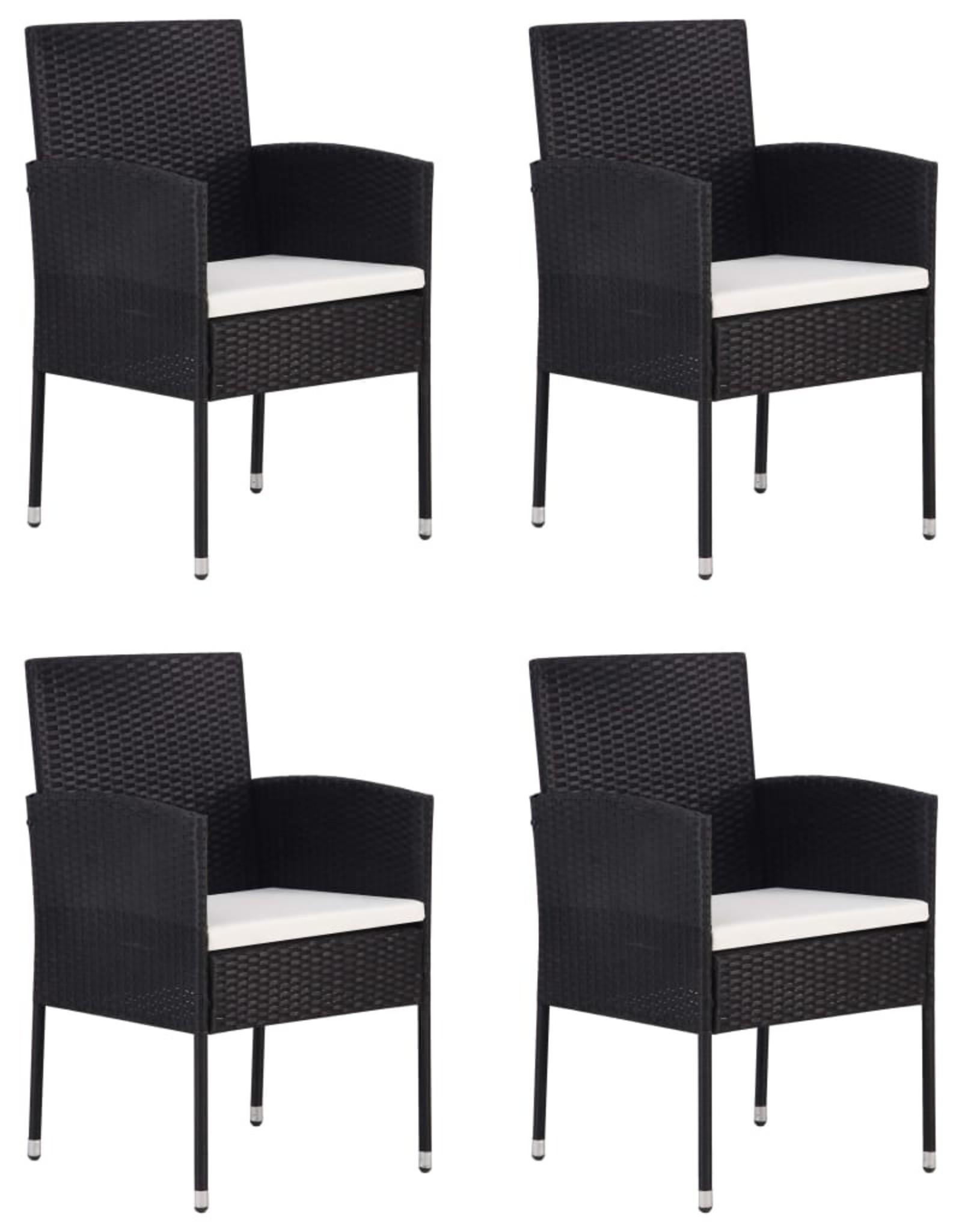 5-delige Tuinset zwart
