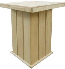 Bartafel 75x75x110 cm geïmpregneerd grenenhout