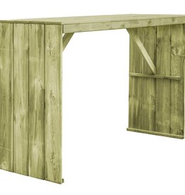 Bartafel 170x60x110 cm geïmpregneerd grenenhout