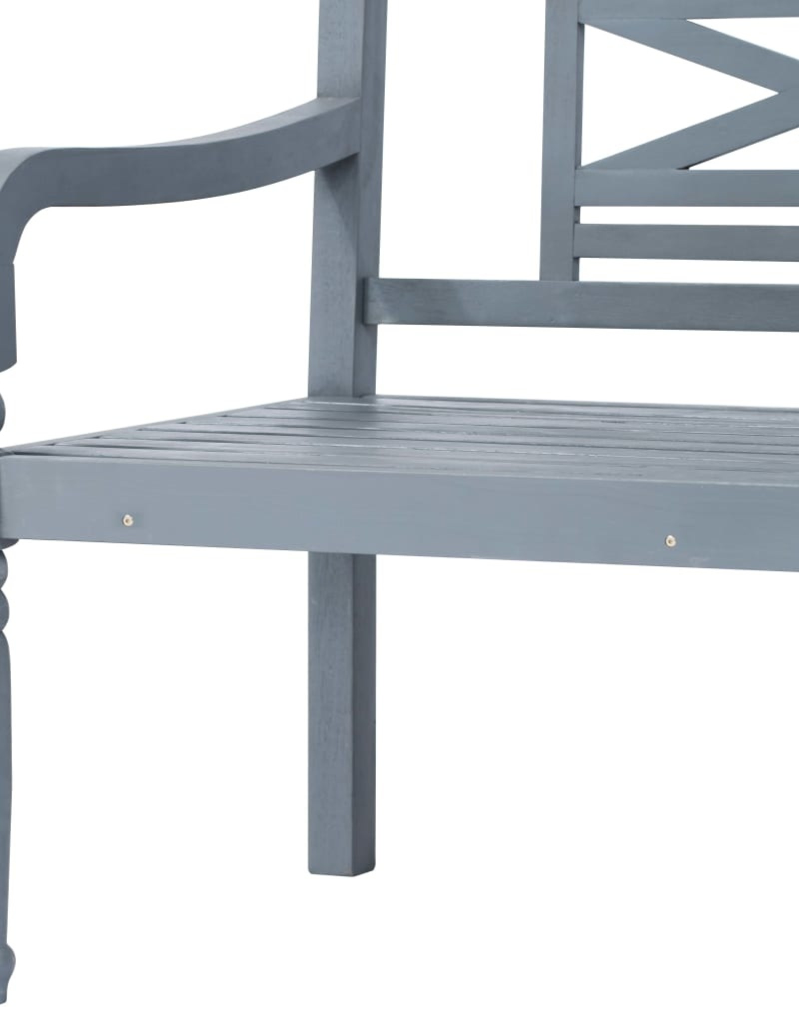 3-delige Loungeset met kussens massief acaciahout grijs