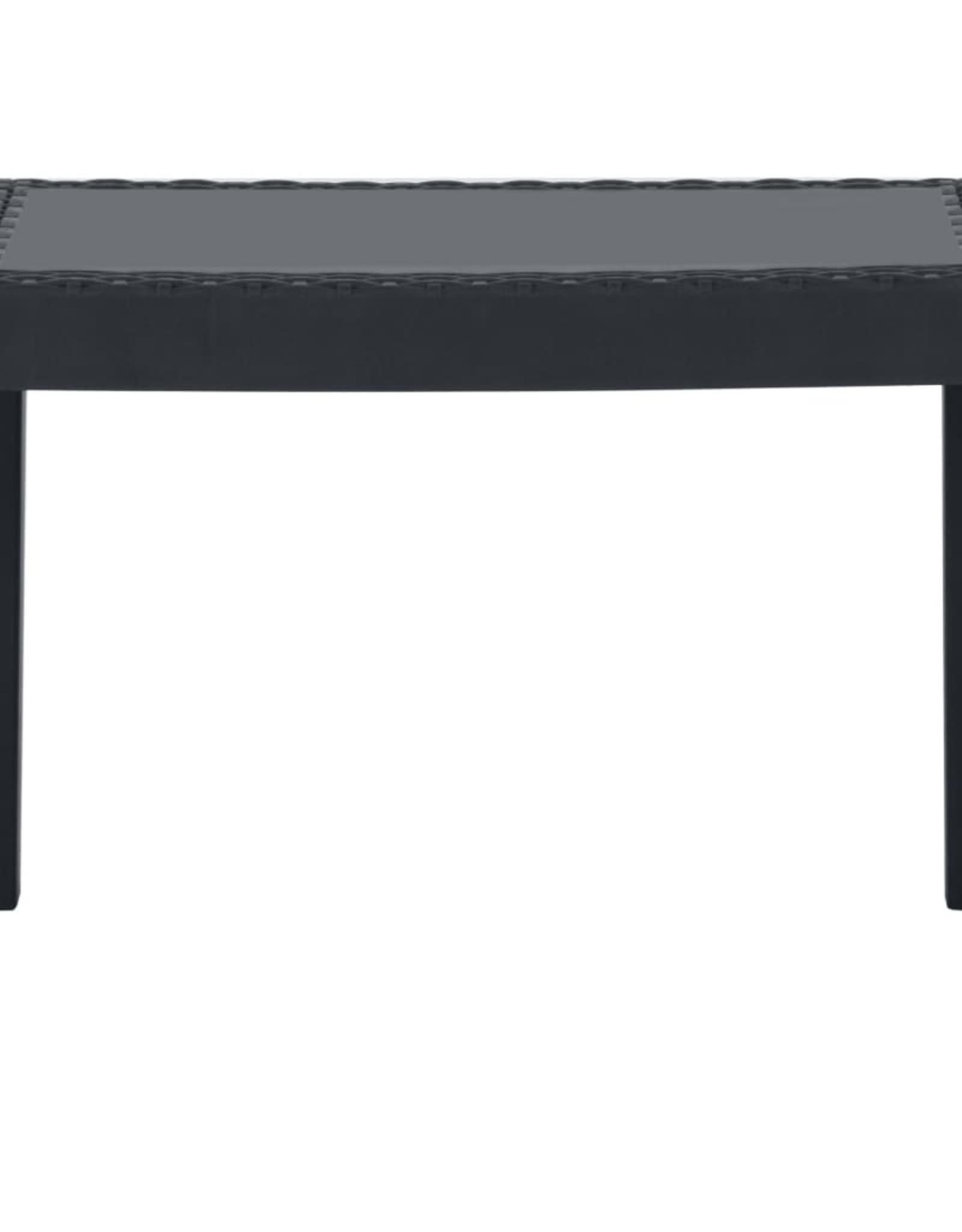3-delige Loungeset met kussens kunststof grijs