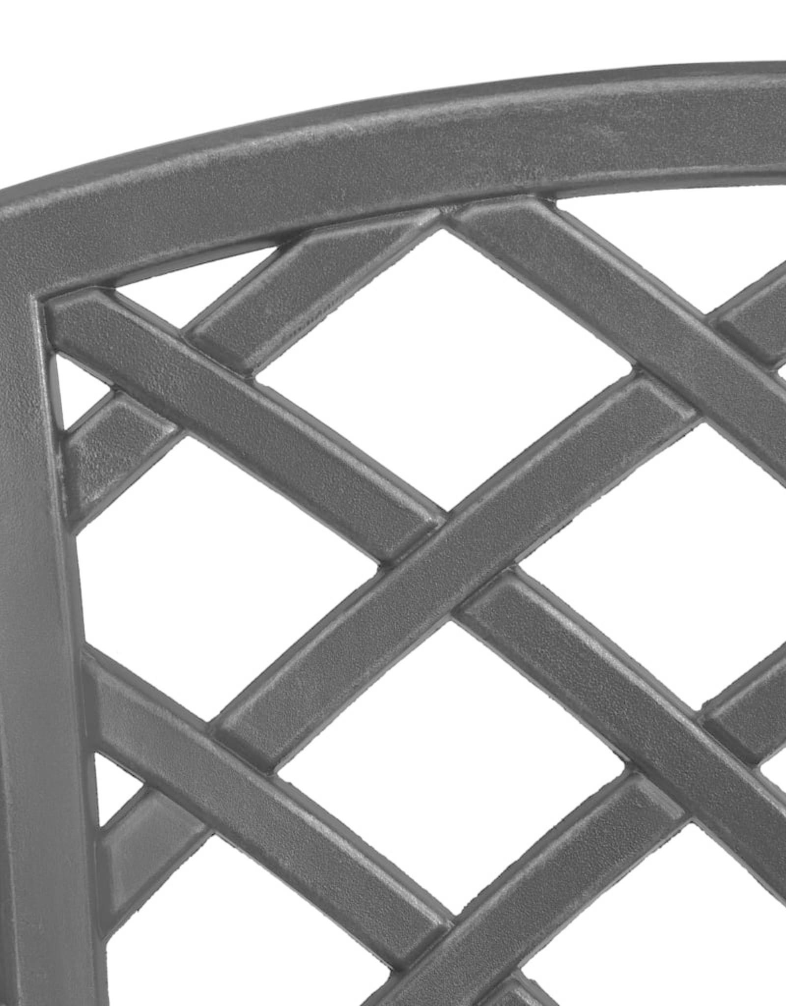 3-delige Bistroset gietaluminium zwart
