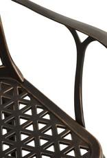 3-delige Bistroset gietaluminium bronskleurig