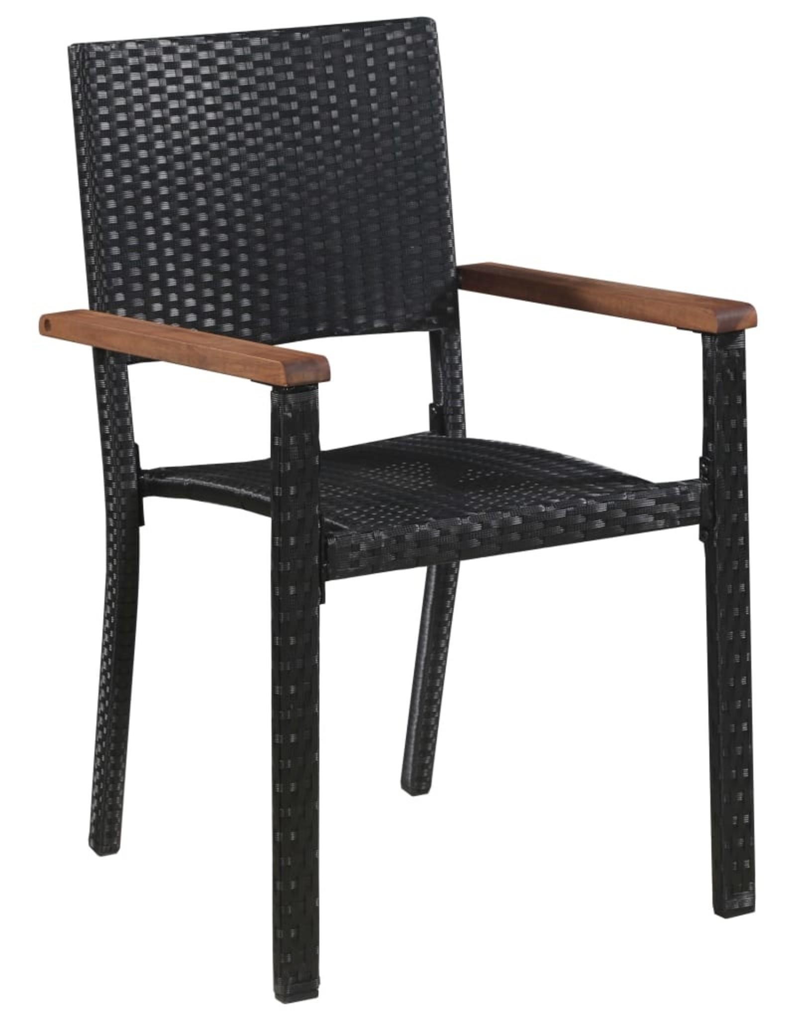 3-delige Tuinset zwart
