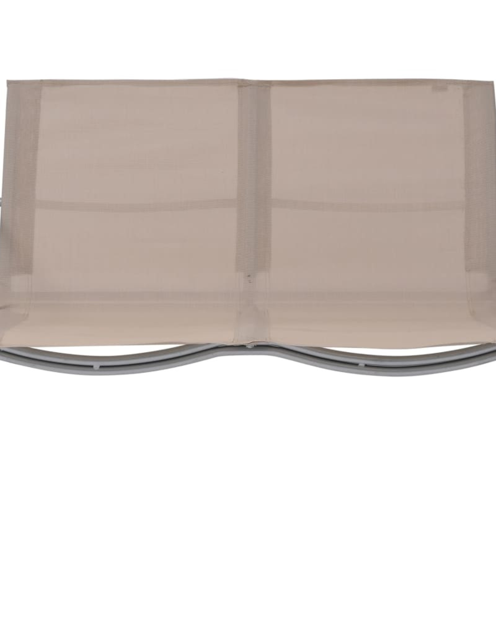 4-delige Loungeset stof en staal taupe