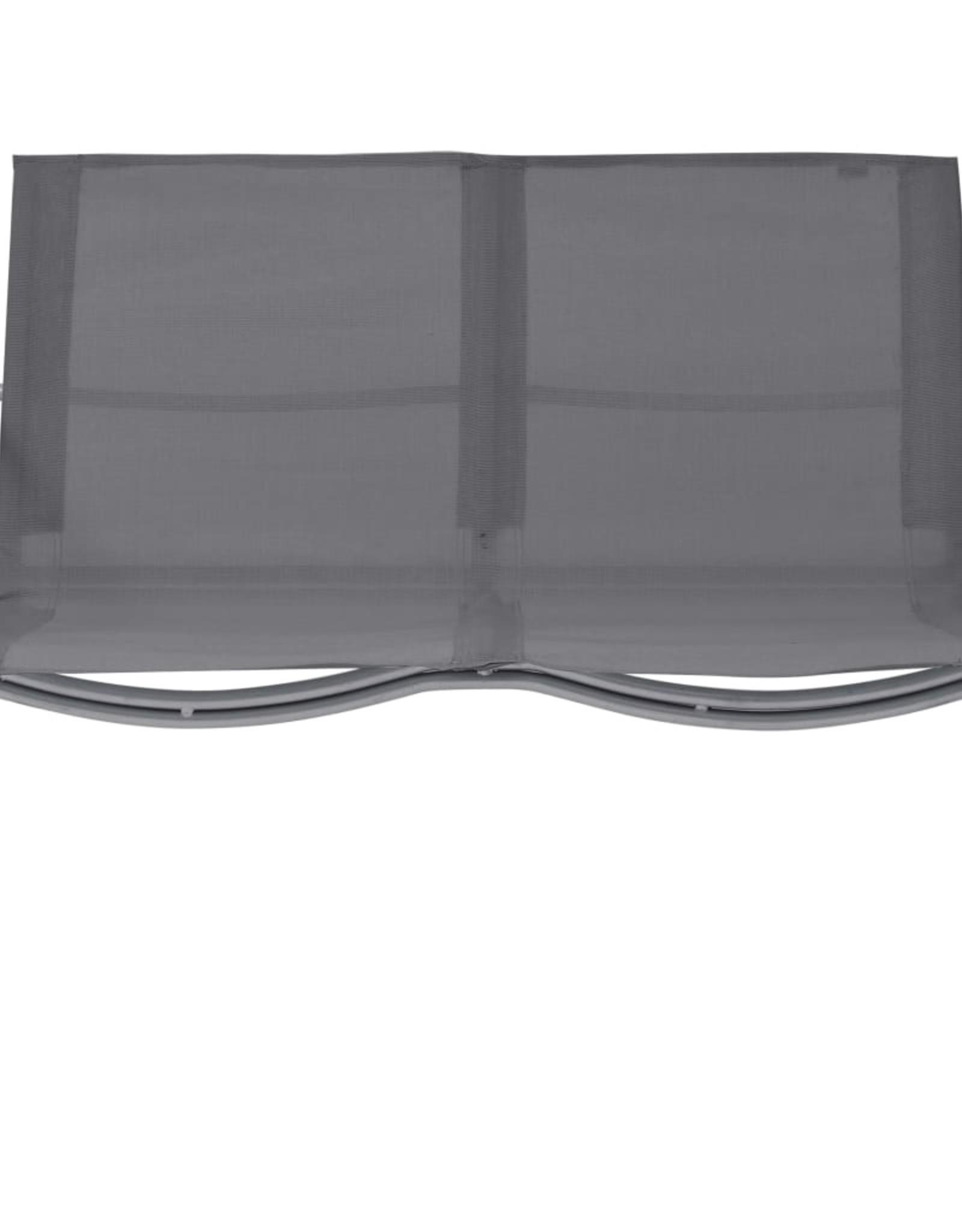 4-delige Loungeset stof en staal grijs